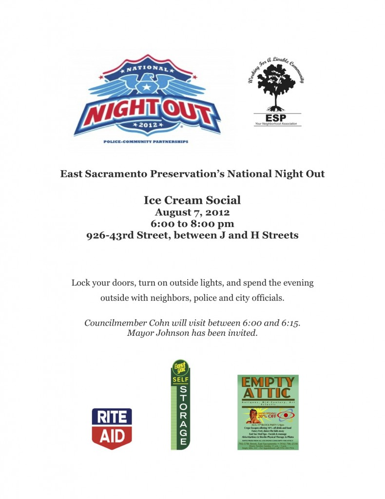 East Sacramento Preservation's National Night Out
