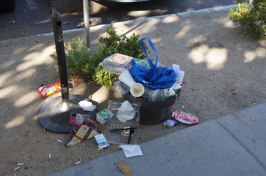The weekend mess on J Street at the hospital's main entrance