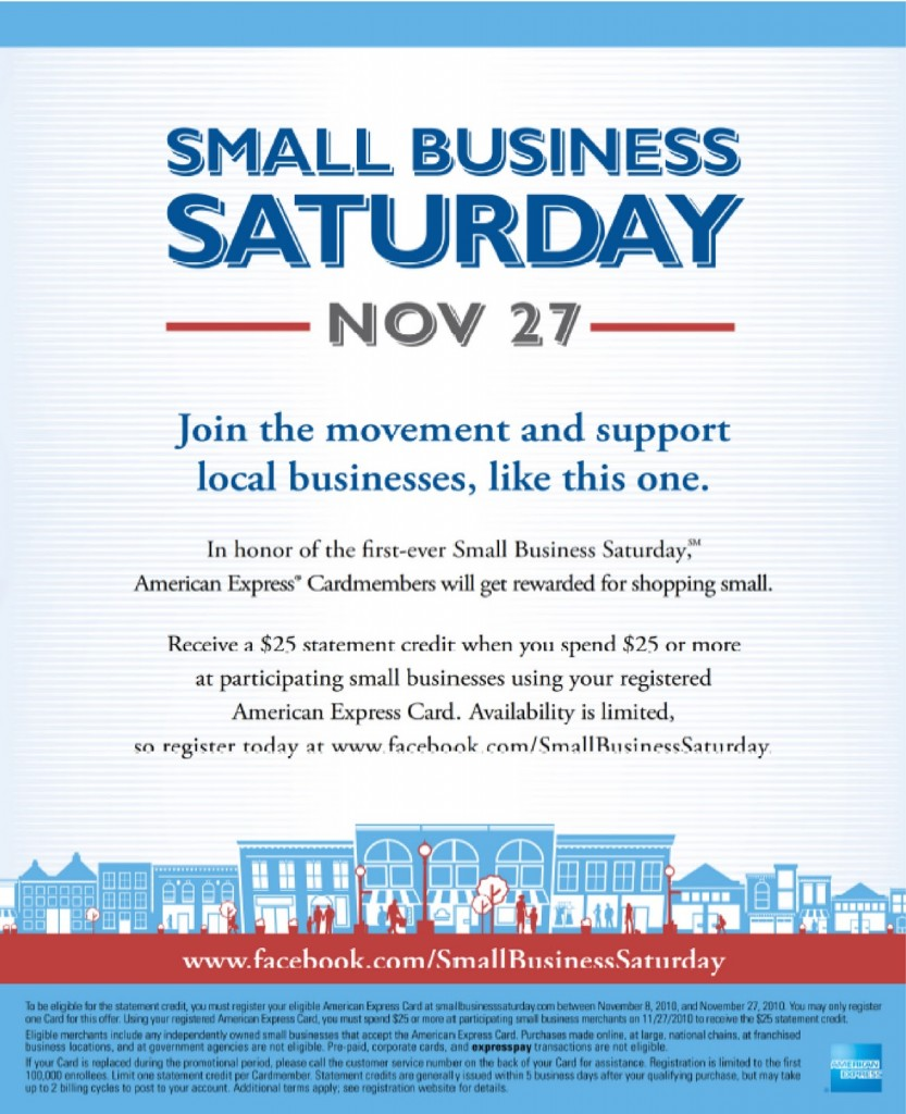 East Sacramento Small Business Saturday – $25 American Express Offer