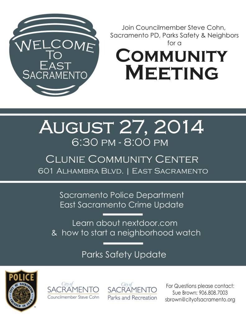 East Sac Crime Community Meeting