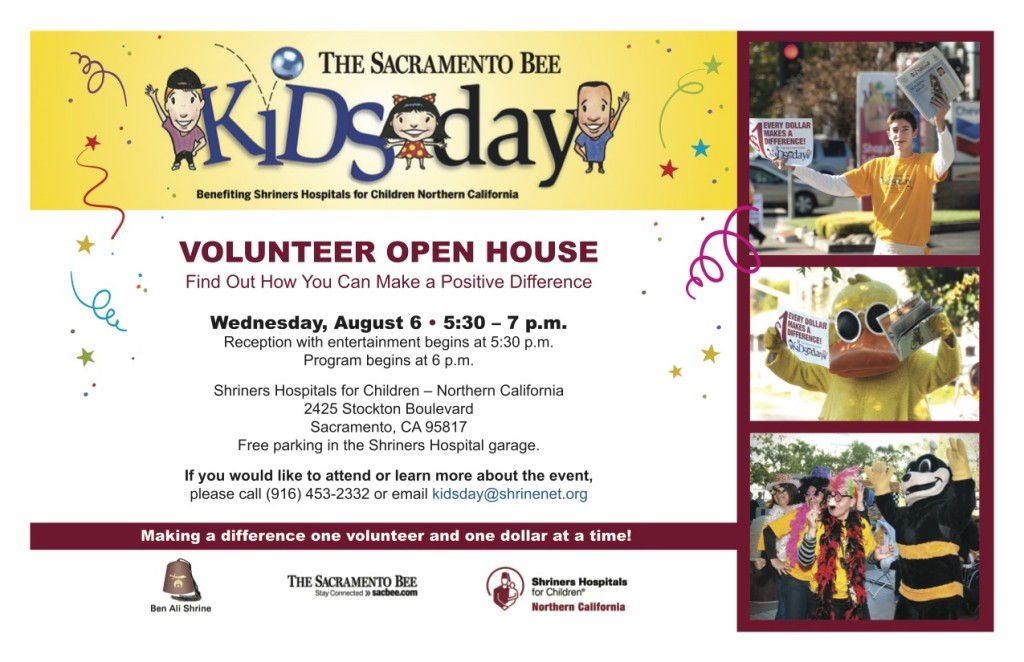 Kids Day Volunteer Info