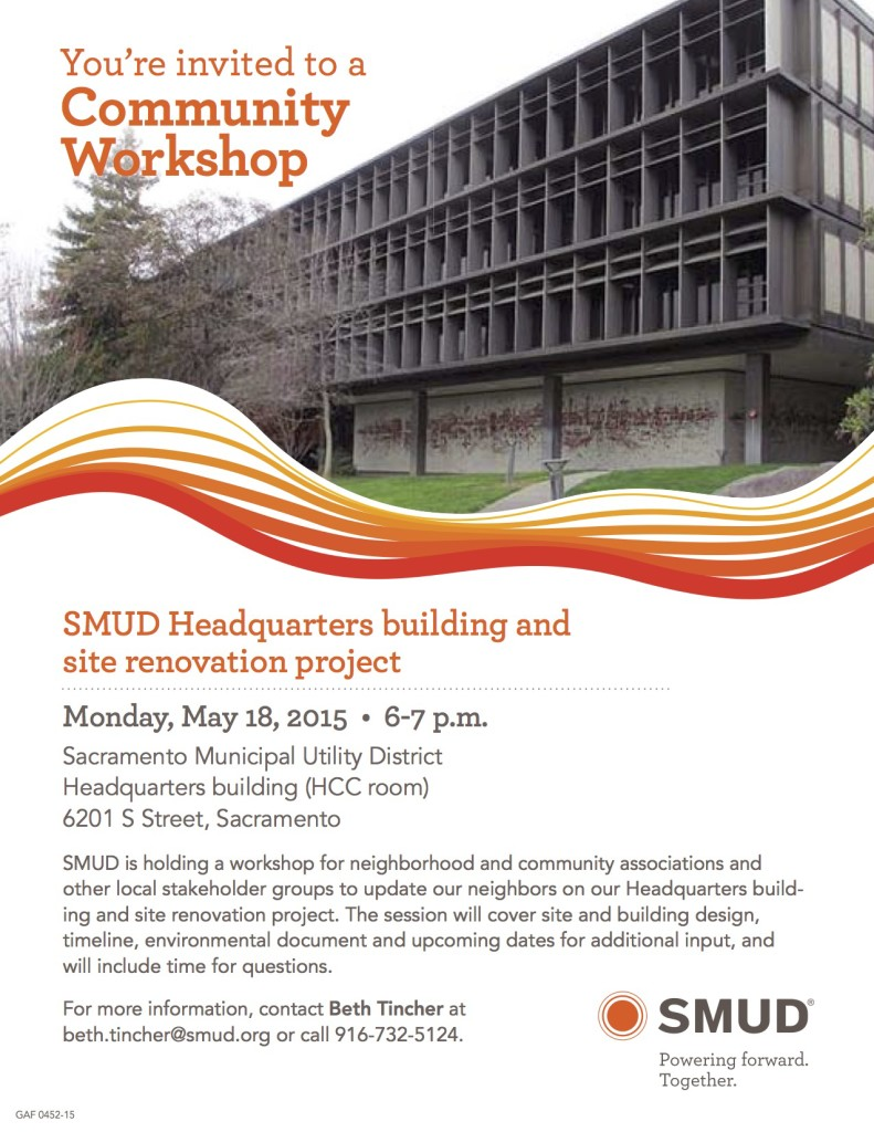 SMUD Community Workshop—HQ Building and Site Renovation Plan