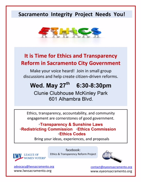Transparency Meetings Continue/Mark Your Calendars