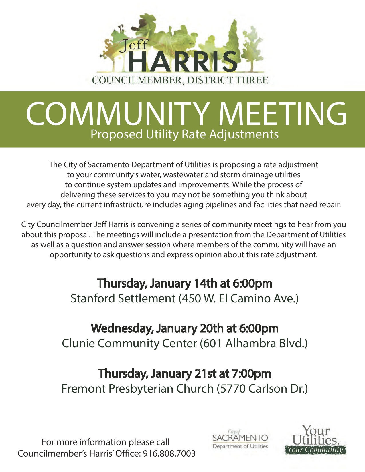 Utility Rate Hike Proposed!! Come To The Clunie Meeting To Voice Your Opinion
