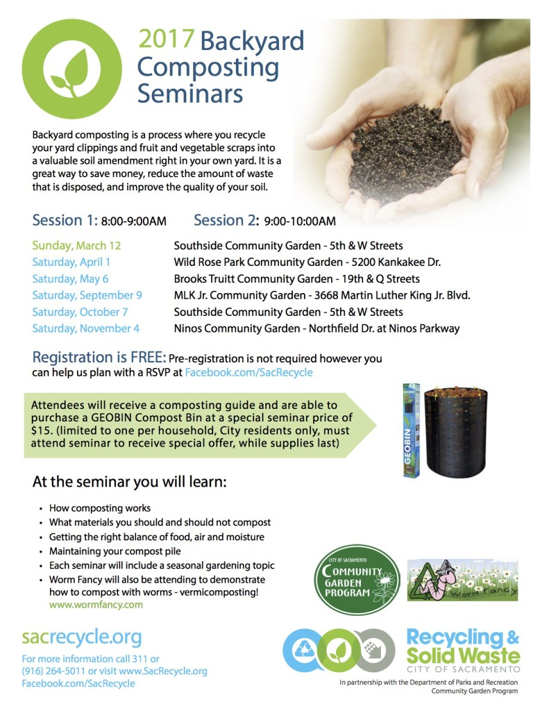 2017 backyard composting seminars east sacramento preservation